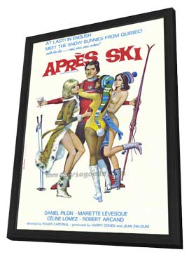 Apres Ski - 27 x 40 Movie Poster - Style A - in Deluxe Wood Frame