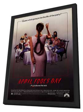 April Fool's Day - 27 x 40 Movie Poster - Style A - in Deluxe Wood Frame
