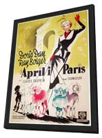 April in Paris - 11 x 17 Movie Poster - Danish Style A - in Deluxe Wood Frame