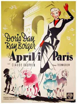 April in Paris - 11 x 17 Movie Poster - Danish Style A