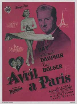 April in Paris - 11 x 17 Movie Poster - French Style A
