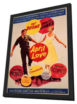 April Love - 11 x 17 Movie Poster - Style A - in Deluxe Wood Frame