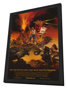 Aqua Teen Hunger Force Colon Movie Film for Theaters - 27 x 40 Movie Poster - Style B - in Deluxe Wood Frame