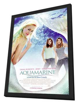 Aquamarine - 27 x 40 Movie Poster - Style D - in Deluxe Wood Frame