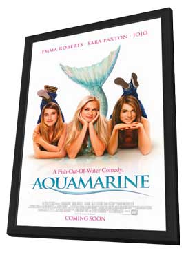 Aquamarine - 11 x 17 Movie Poster - Style A - in Deluxe Wood Frame