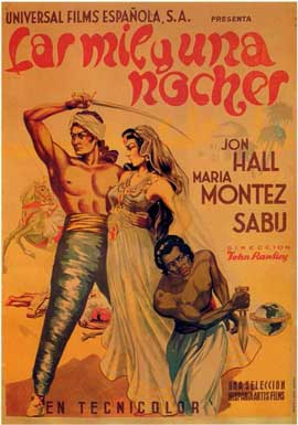 Arabian Nights - 11 x 17 Movie Poster - Spanish Style A