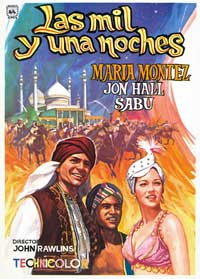 Arabian Nights - 11 x 17 Movie Poster - Spanish Style B