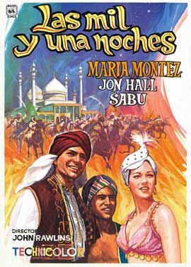 Arabian Nights - 27 x 40 Movie Poster - Spanish Style B