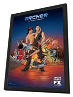 Archer (TV) - 27 x 40 TV Poster - Style A - in Deluxe Wood Frame