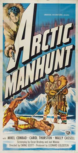 Arctic Manhunt - 20 x 40 Movie Poster - Style A