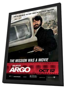 Argo - 11 x 17 Movie Poster - Style F - in Deluxe Wood Frame