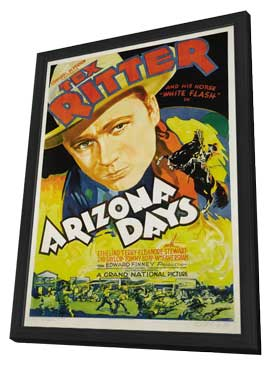 Arizona Days - 27 x 40 Movie Poster - Style B - in Deluxe Wood Frame