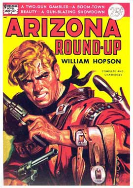Arizona Round-Up - 11 x 17 Retro Book Cover Poster