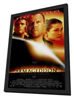 Armageddon - 27 x 40 Movie Poster - Style E - in Deluxe Wood Frame