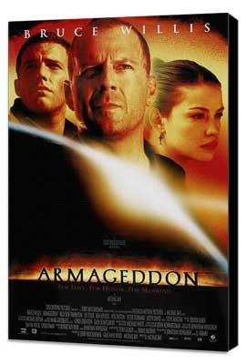Armageddon - 27 x 40 Movie Poster - Style E - Museum Wrapped Canvas