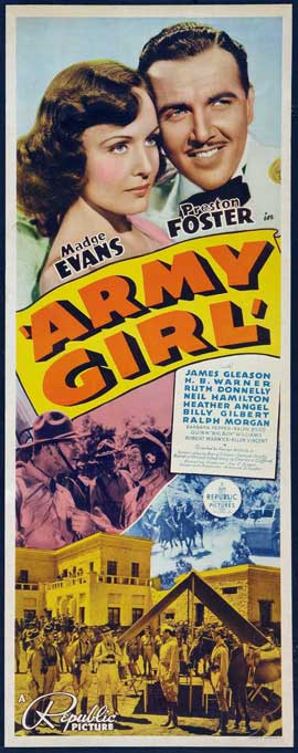 Army Girl - 14 x 36 Movie Poster - Insert Style A