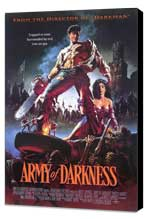 Army of Darkness - 27 x 40 Movie Poster - Style A - Museum Wrapped Canvas