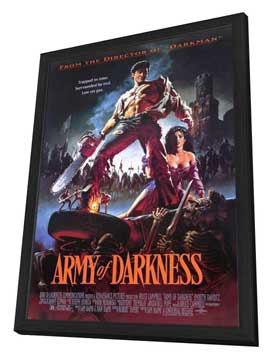 Army of Darkness - 27 x 40 Movie Poster - Style A - in Deluxe Wood Frame