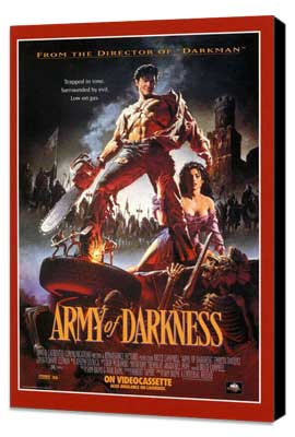 Army of Darkness - 11 x 17 Movie Poster - Style C - Museum Wrapped Canvas