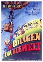 Around the World in 80 Days - 11 x 17 Movie Poster - German Style B