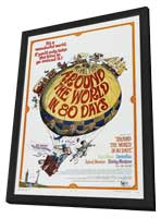 Around the World in 80 Days - 27 x 40 Movie Poster - Style C - in Deluxe Wood Frame