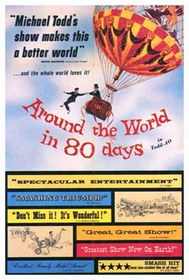 Around the World in 80 Days - 27 x 40 Movie Poster - Style B