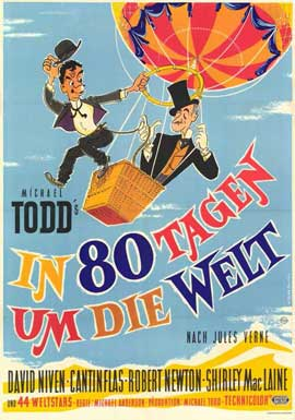 Around the World in 80 Days - 11 x 17 Movie Poster - German Style A