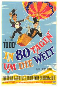Around the World in 80 Days - 27 x 40 Movie Poster - German Style A