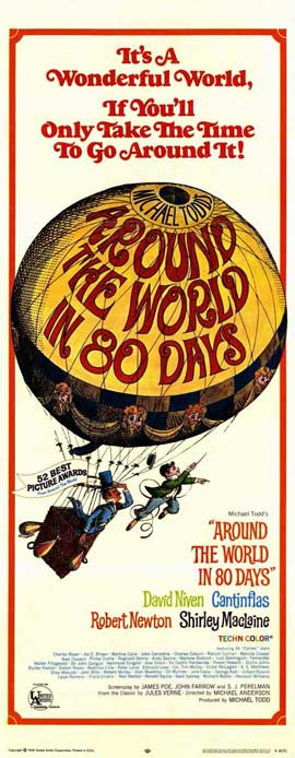 Around the World in 80 Days - 14 x 36 Movie Poster - Insert Style A