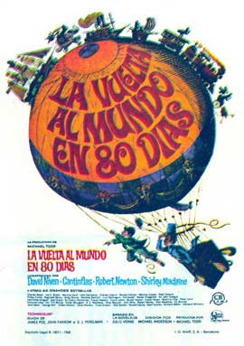 Around the World in 80 Days - 27 x 40 Movie Poster - Spanish Style A