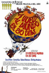Around the World in 80 Days - 11 x 17 Movie Poster - Spanish Style B