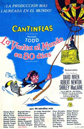 Around the World in 80 Days - 27 x 40 Movie Poster - Spanish Style C
