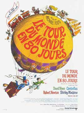 Around the World in 80 Days - 27 x 40 Movie Poster - French Style A