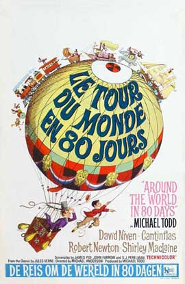 Around the World in 80 Days - 27 x 40 Movie Poster - Belgian Style A