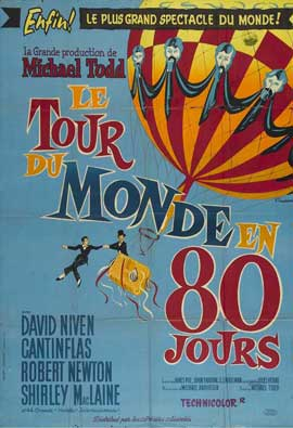 Around the World in 80 Days - 11 x 17 Movie Poster - French Style B