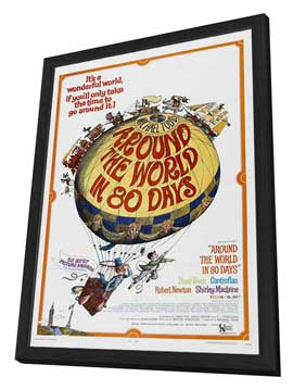 Around the World in 80 Days - 11 x 17 Movie Poster - Style C - in Deluxe Wood Frame