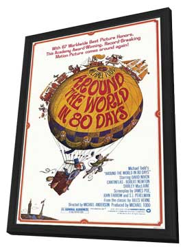 Around the World in 80 Days - 27 x 40 Movie Poster - Style A - in Deluxe Wood Frame