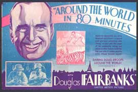 Around the World in 80 Minutes with Douglas Fairbanks - 11 x 17 Movie Poster - UK Style A