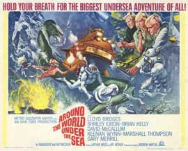 Around the World Under the Sea - 11 x 14 Movie Poster - Style F