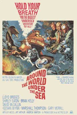 Around the World Under the Sea - 11 x 17 Movie Poster - Style A