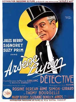 Arsene Lupin - 11 x 17 Movie Poster - French Style A