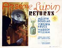Arsene Lupin Returns - 22 x 28 Movie Poster - Half Sheet Style E