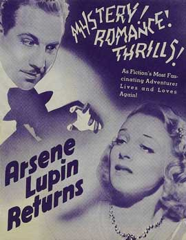 Arsene Lupin Returns - 11 x 17 Movie Poster - Style A