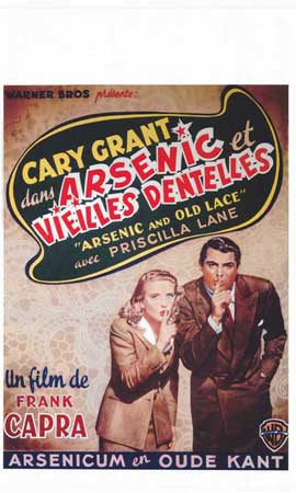 Arsenic and Old Lace - 11 x 17 Movie Poster - Belgian Style A