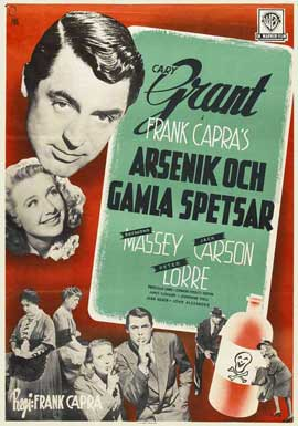 Arsenic and Old Lace - 27 x 40 Movie Poster - Swedish Style A