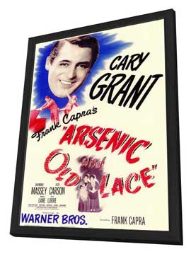 Arsenic and Old Lace - 11 x 17 Movie Poster - Style A - in Deluxe Wood Frame