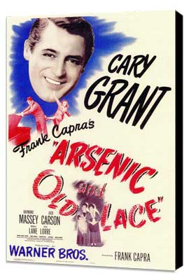 Arsenic and Old Lace - 11 x 17 Movie Poster - Style A - Museum Wrapped Canvas