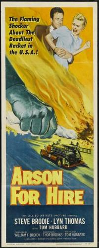 Arson for Hire - 14 x 36 Movie Poster - Insert Style A