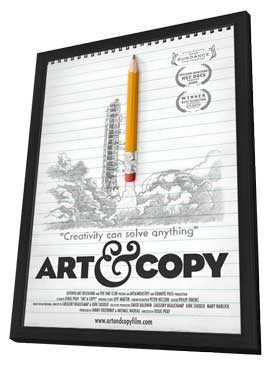 Art & Copy - 11 x 17 Movie Poster - Style A - in Deluxe Wood Frame