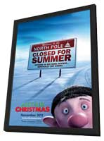 Arthur Christmas - 27 x 40 Poster - Style C - in Deluxe Wood Frame